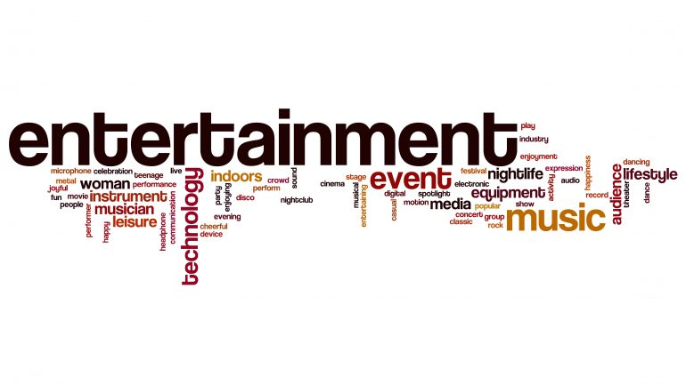 Entertainment word cloud